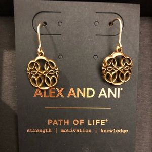 Alex and Ani 'Path of Life' gold earrings